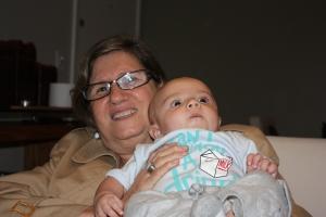 Eu e minha tia avó Leinha.